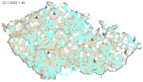 Hydrologická situace: Platnost sucha a SPA.