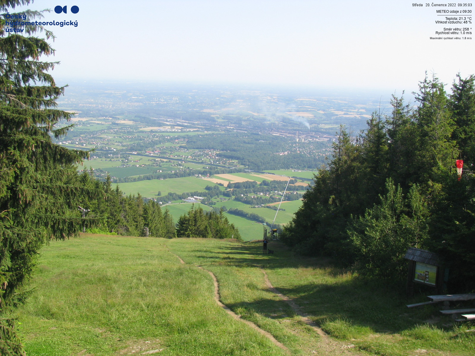 Webkamera Javorový v Beskydech