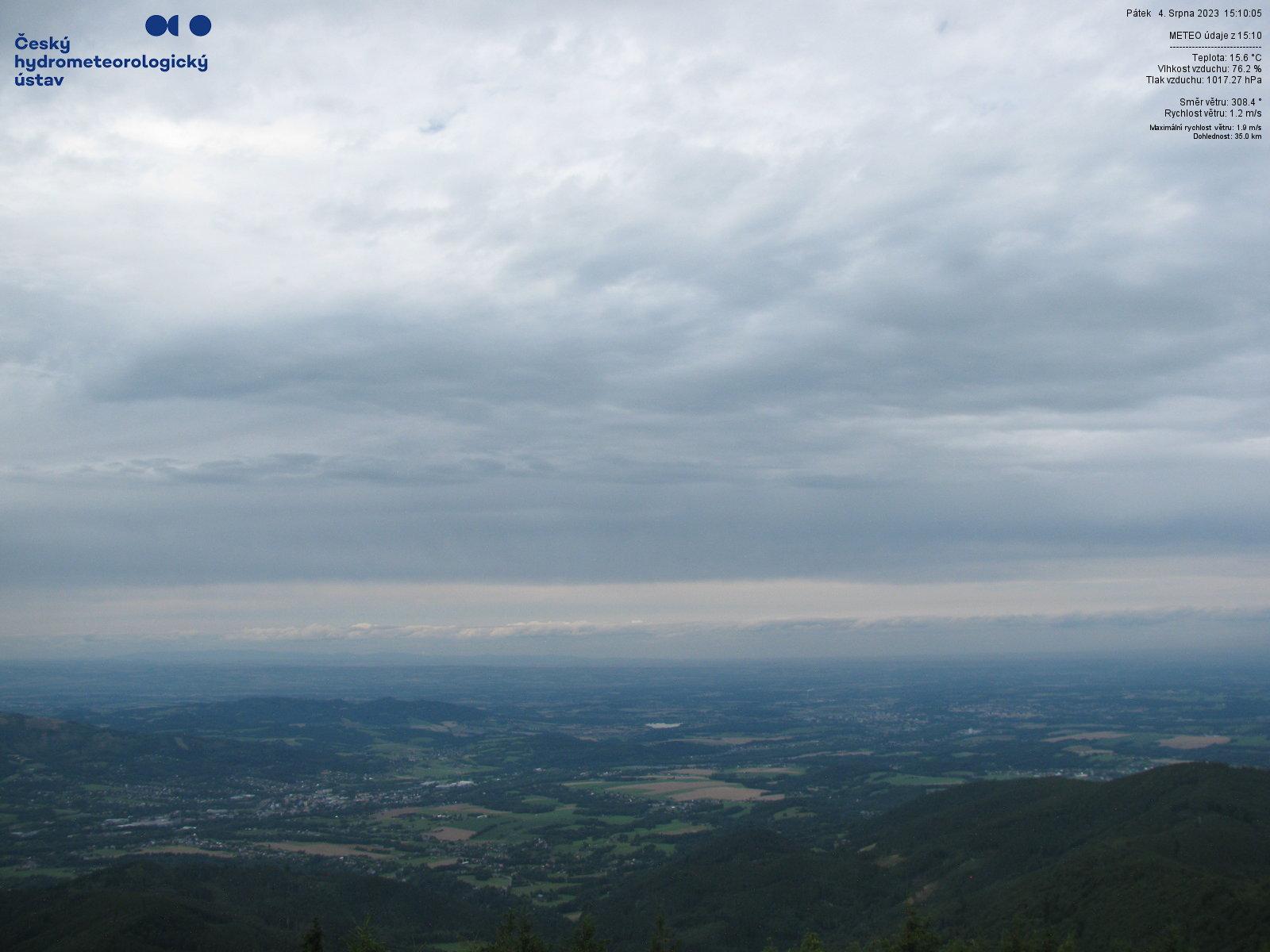 Webová kamera z vrcholu Lysé hory - SZ pohled