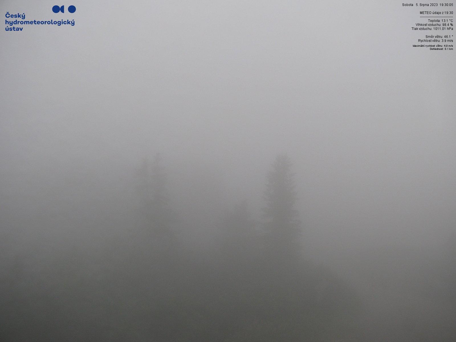 Webkamera z vrcholu Lysé hory - JV