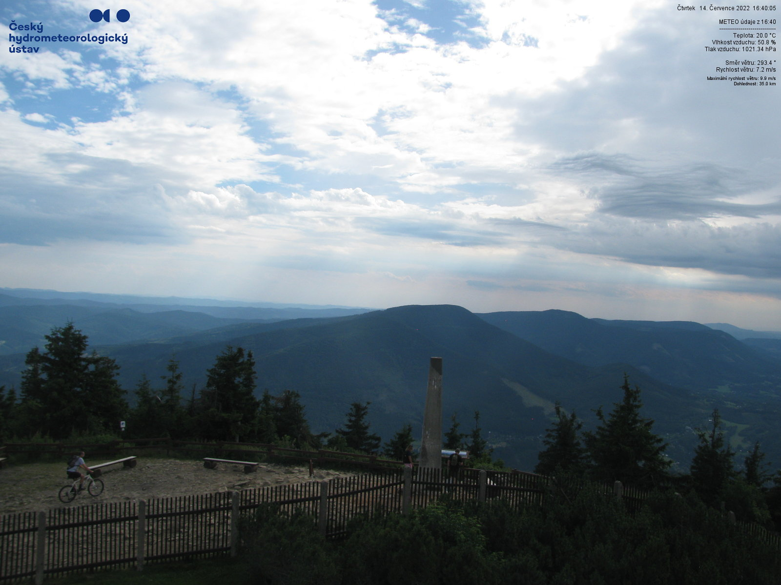 webkamera - Beskydy - Lysá hora (pohled na jihozápad