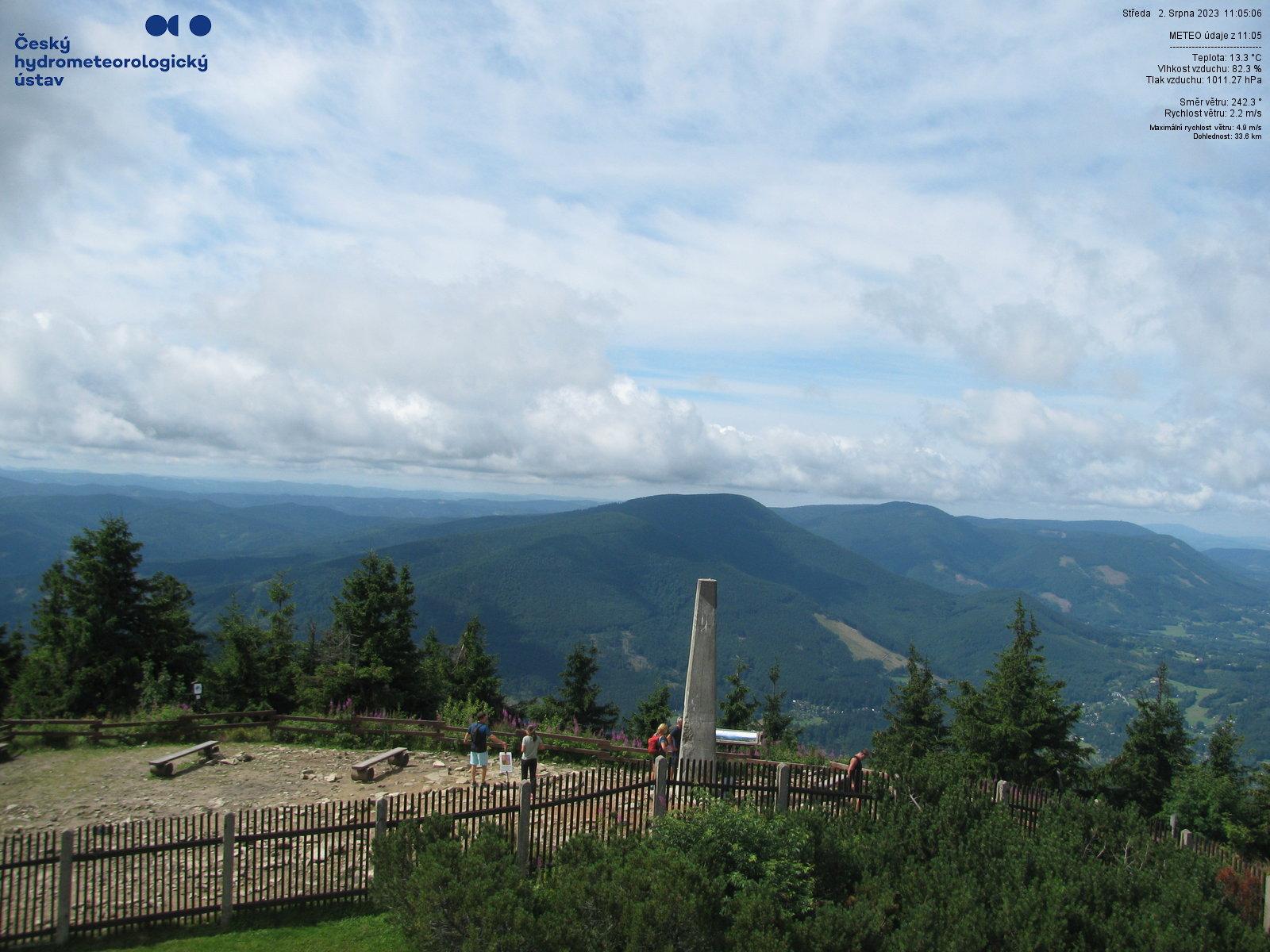 Lysá hora - Pohled na jihozápad