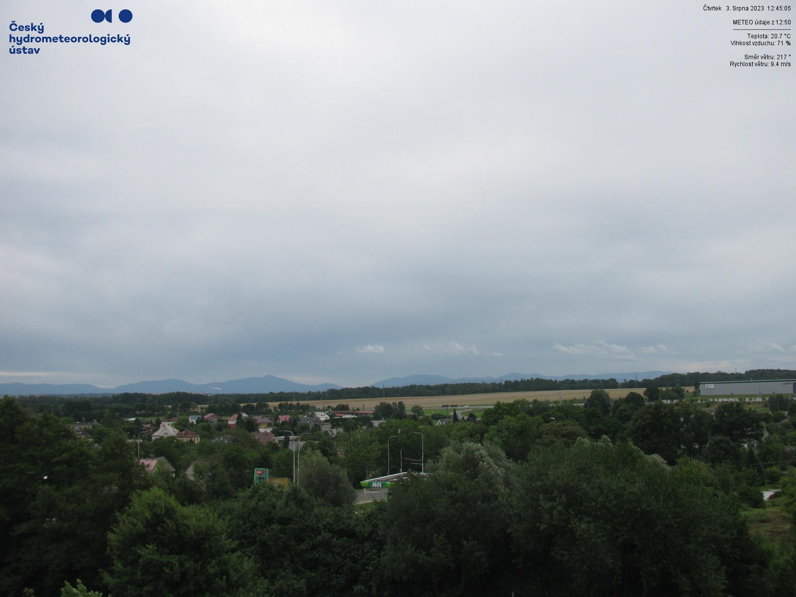 Ostrava-Poruba - JV směr - 252 m n.m.
