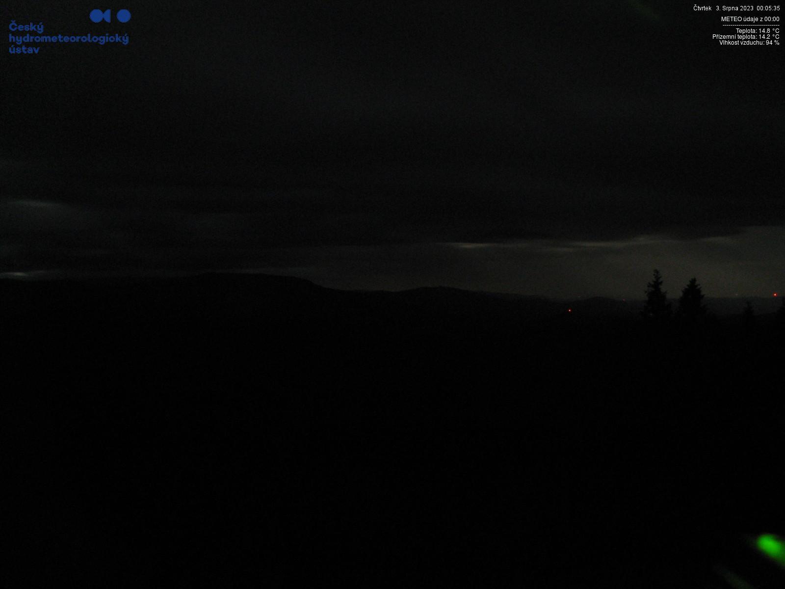 Pohled z meteo kamery