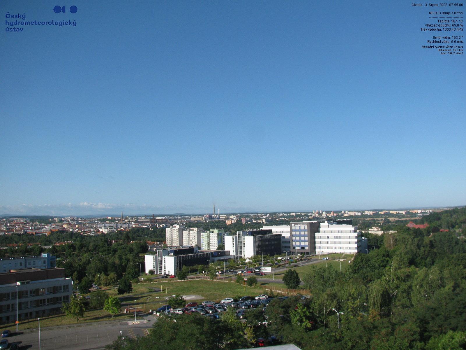 Plzeň Mikulka - JZ směr - 347 m n.m.