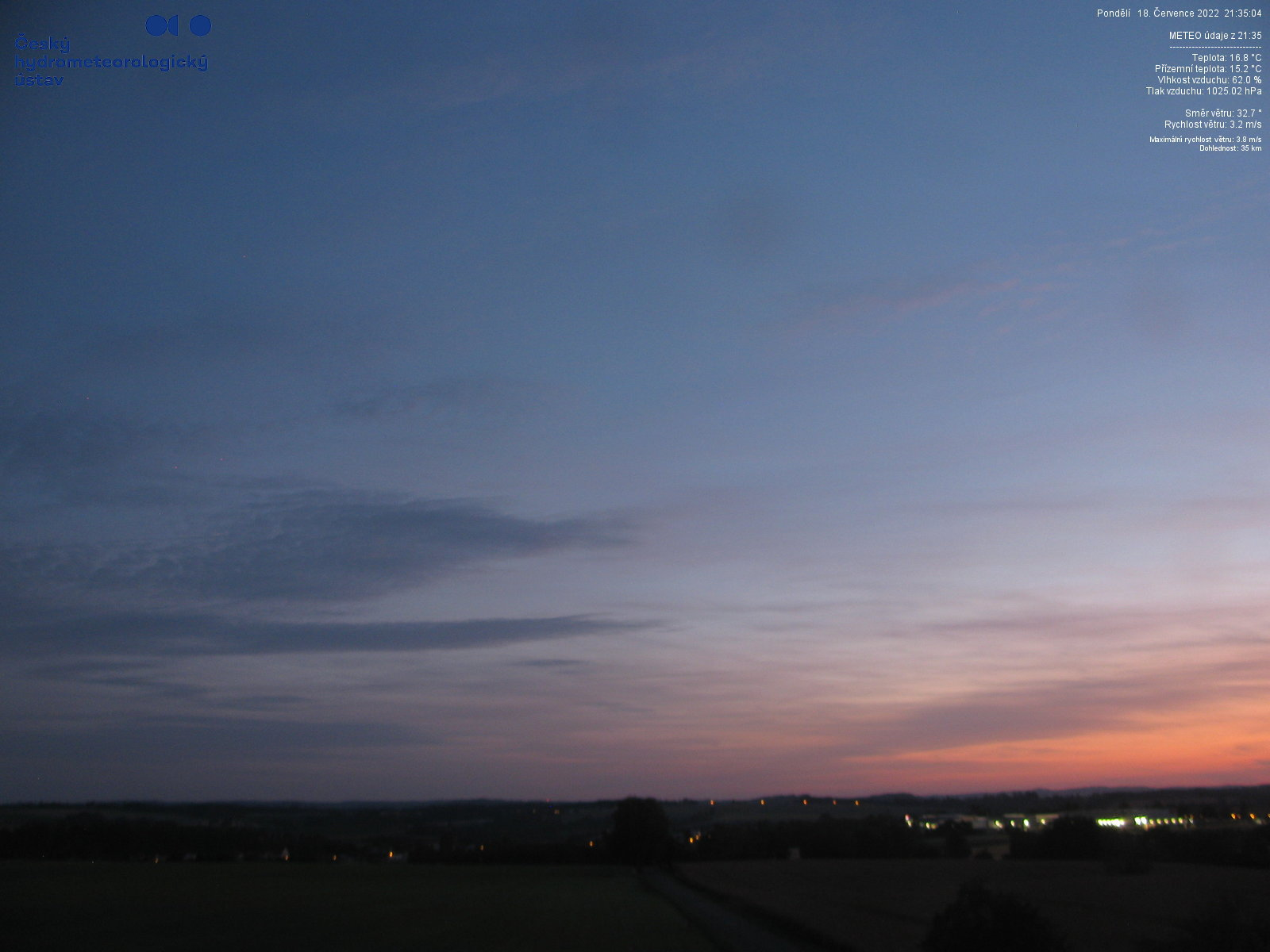 Webkamera - Pohled z letiště