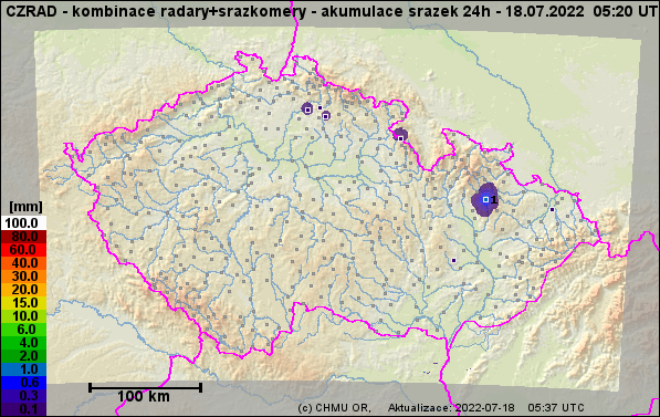 Kombinovaný odhad srážek radaru a srážkoměrů